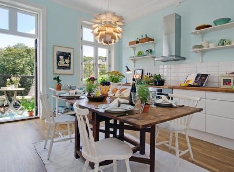 la importancia de la luz en la decoracin nrdica ya que como sabis para conseguir ms luz en la cocina lo ideal es que pongamos colores claros